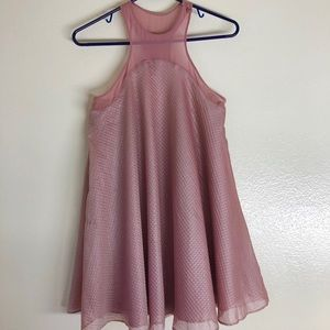 Anthropologie Silence + Noise Pink Chiffon Dress